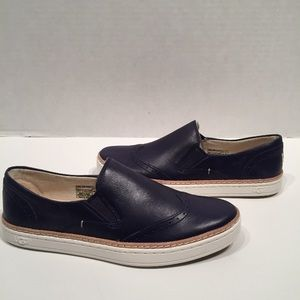 UGG Shoes - Ugg Hadria Navy Leather Fashion Loafers